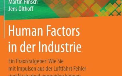 Ab sofort im Buchhandel: Human Factors in der Industrie